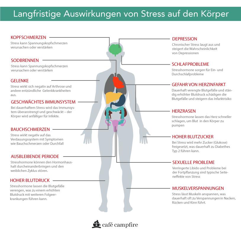 Langfristige Auswirkungen von Stress auf den Körper