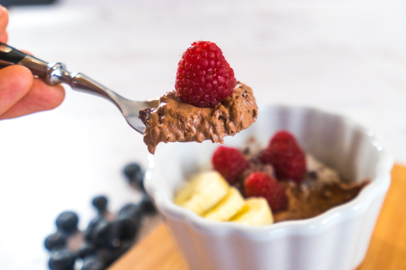 Schokoladen-Chia-Bowl