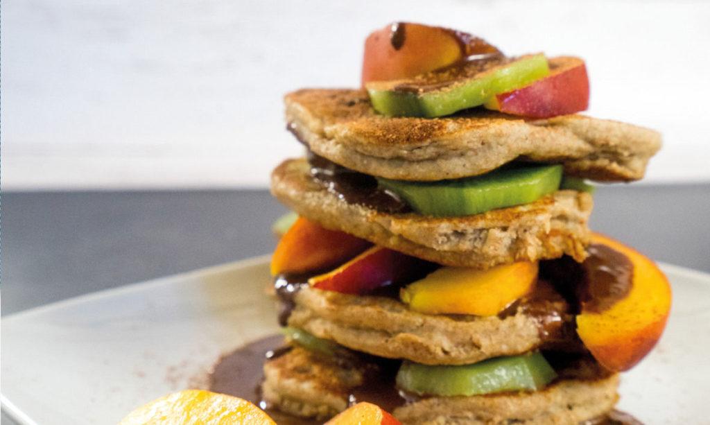Fluffige, vegane Bananen-Pancakes ohne Mehl